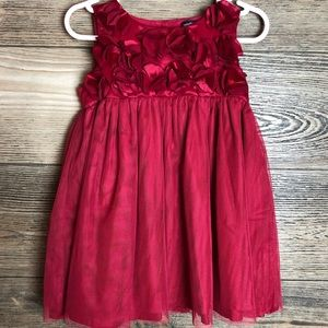 4/$25 Baby Gap Holiday Dress- Red- Girls 18-24M
